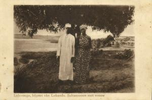 congo, LOKANDU LULESUNGU, Son of the Sultan with his Wife (1920s) Mission