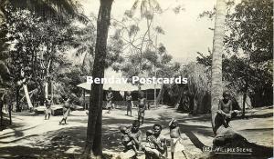 Bismarck Archipelago PNG, New Britain, Native Papua Village (1910s) RP