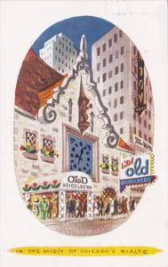 Illinois Chicago Old Heidelberg Restaurant 1951