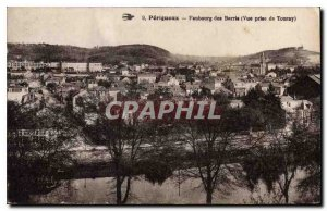 Old Postcard Faubourg des Barris Perigueux View from Tourny