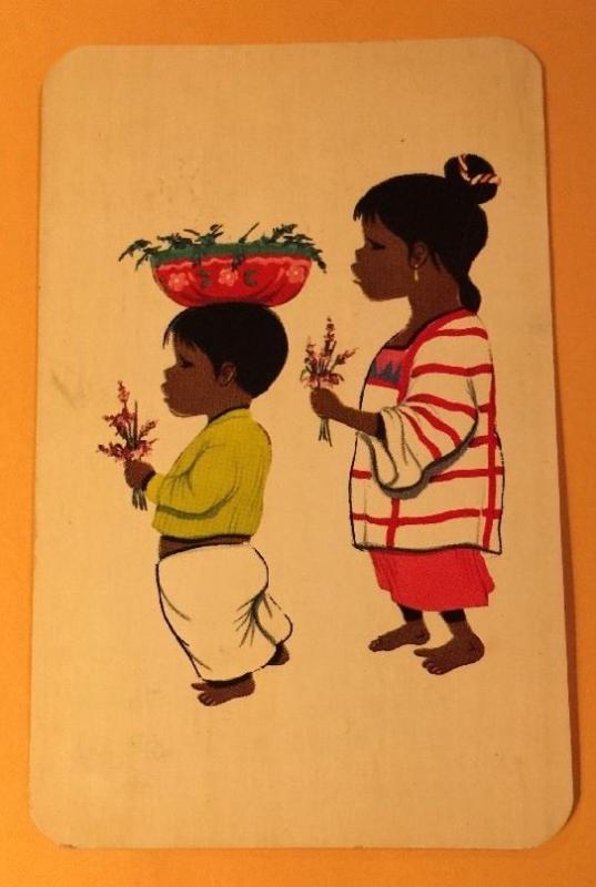 MEXICAN CHILDREN Vintage Chrome Postcard