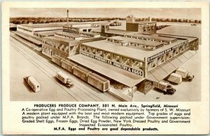 1940s Springfield, Missouri Postcard PRODUCERS PRODUCE COMPANY 501 N. Main Ave.