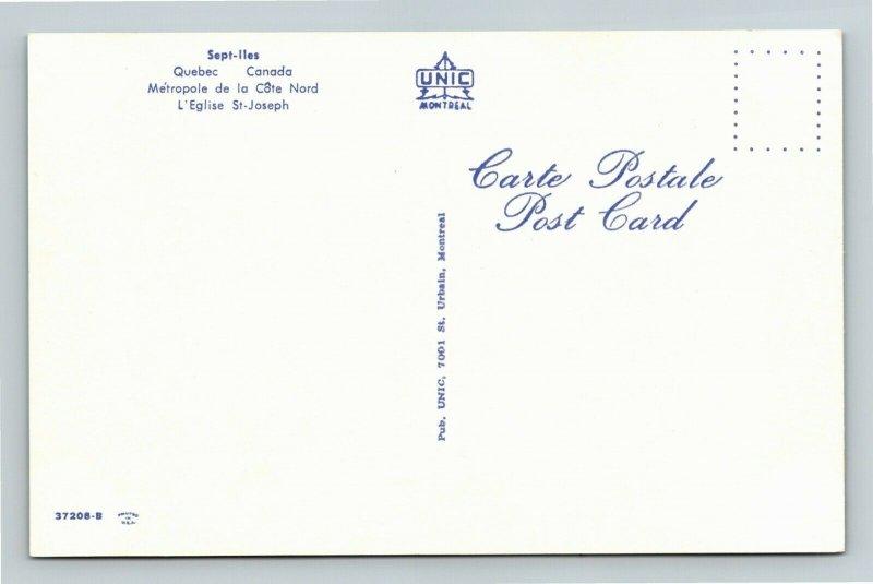 Sept-iles Quebec-Canada, Seven Islands, City in Eastern Quebec, Chrome Postcard