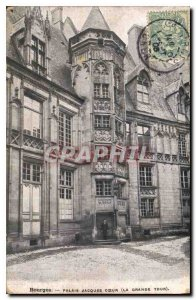 Old Postcard Bourges Palais Jacques Coeur Great Tower