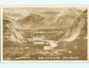 Circa 1910 rppc BOW VALLEY CPR HOTEL IN BANFF Alberta AB CANADA t3124