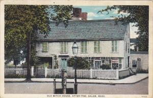 Massachusetts Salem Old Witch House After 1780 1933