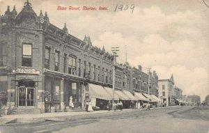 LPS49 MARION Iowa Main Street Town View Postcard