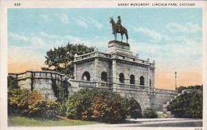 Illinois Chicago Grant Monument Lincoln Park Curteich