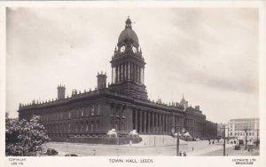 England Yorkshire Leeds Town Hall Real Photo