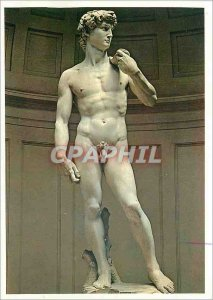 Old Postcard Firenze Galleria Accademia Michelangelo's David