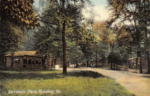 Reading Pennsylvania~Carsonia Park~Open Air Pavilion~Teeter Totter~1910 Postcard