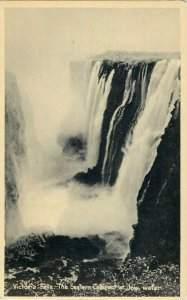 Victoria Falls the eastern cataract at low water Zambia early postcard