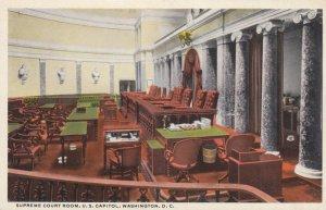 WASHINGTON DC, 1910s; Supreme Court Room, U.S. Capitol