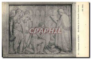 Postcard Old Chartreuse d'Auray Bas Relief Chapel sepulchral