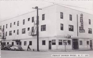 RP; Street view of PRINCE GEORGE Hotel , Prince George , B.C. , Canada , 30-40s