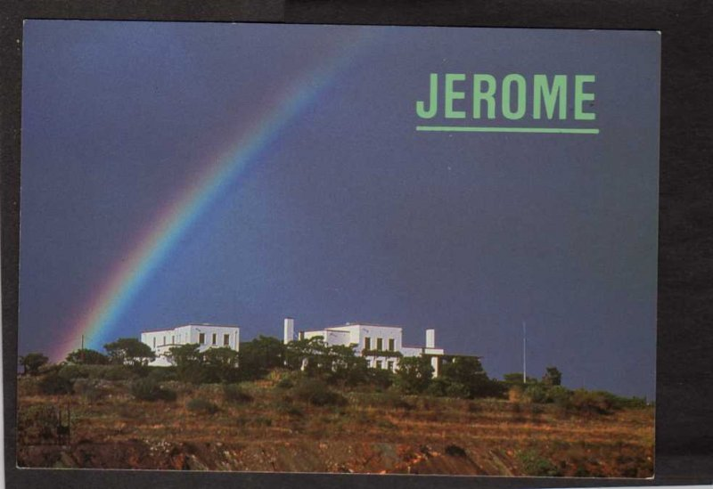 AZ Jerome State Historical Park Verde Valley Arizona Postcard Rainbow