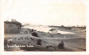 Guantanamo Bay Cuba Harbor Real Photo Antique Postcard J50814