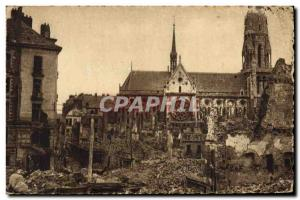 Postcard Modern Army Nantes after the bombing down the street Calvary took th...