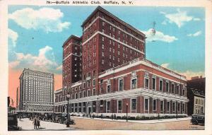 Buffalo Athletic Club, Buffalo, New York, early postcard, used in 1930