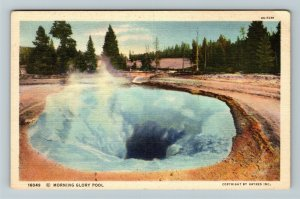 WY-Wyoming,View Of Morning Glory Pool, Yellowstone National Park, Linen Postcard