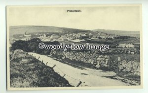 tp9397 - Devon - View of Dartmoor Prison, and the Town of Princetown - postcard