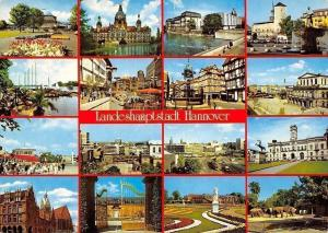Landeshauptstadt Hannover multiviews Rathaus, Kirche, Hafen Statue, Town Hall