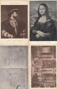 Museum De Louvre Napoleon Mona Lisa Henry VIII Rhine Letter 4x Military Frenc...