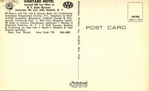 NY - Dunkirk. Vineyard Motel