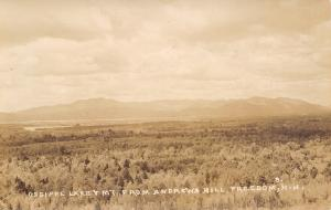 Freedom New Hampshire~Ossipee Lake & Mountain~From Andrews Hill~1930s RPPC