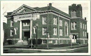 Bridgeport,  Illinois Postcard FIRST CHRISTIAN CHURCH Building View 1959 Cancel