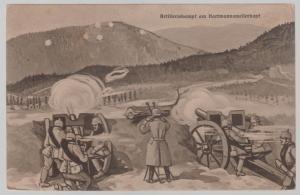 1915 Germany WW 1 Artillery in Battle Picture Postcard Cover Feldpost