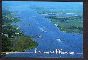 NC Intercoastal Waterway Starts at Sandy Point North Carolina Postcard