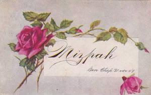 Mizpah, Genesis Chapter 31 Verse 4-9, Red Roses, PU-1907