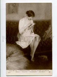 264408 Dancer repairing her boot by CARRIER-BELLEUSE old SALON