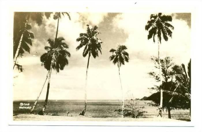 RP; Waterfront View #2, Samoa, 1944; WOFFORD Photo postcard