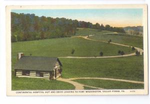 Valley Forge Park PA Continental Hospital Hut Curteich