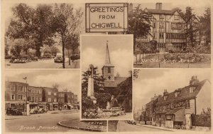 Greetings From Chigwell Antique Real Photo Friths Postcard