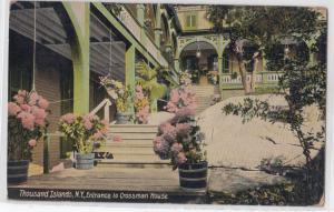 Entrance to Crossman House, 1000 Islands NY