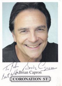 Brian Capron Coronation Street Hand Signed Cast Card Photo