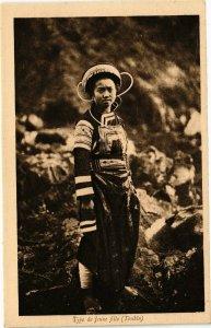 VIETNAM INDOCHINE - Type de jeune fille (Tonkin) (190092)