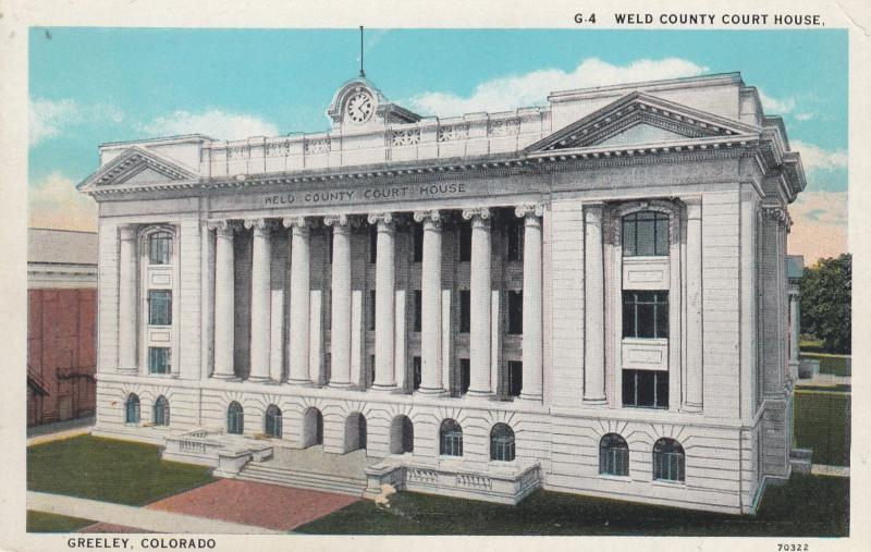GREELEY , Colorado, 1910s ; Court House