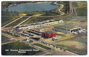 Aerial Cheyenne Transcontinental Airport, Wyoming 1942