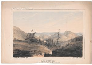 USPRR Survey Sangre de Cristo Pass Gunnisons Creek 38th 39th Parallel  Litho