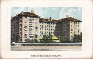 BOSTON, Massachusetts, PU-1910's; Hotel Sommerset