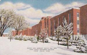 Iowa Cedar Falls Baker and Seerley Halls For Men Iowa State Teachers College
