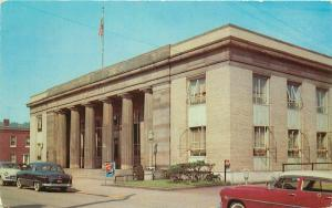 Autos Dexter Jeannette Pennsylvania US Post Office 1950s Postcard Wonday 3979