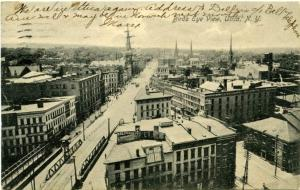 Bird's Eye View - Downtown Utica, New York - pm 1907 - Nice Signage