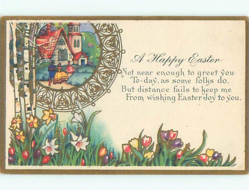 Divided-Back EASTER SCENE Great Postcard AA1247