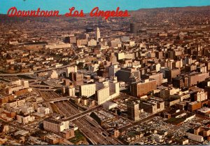 California Los Angeles Aerial View Of Downtown 1969