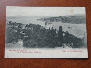Turkey Postcard 1900-06 UDB Unused Constantinople Boshpore Ship Hassan Kaunlidja